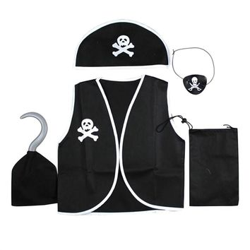5 Pcs KidsPlay Pirate Cosplay Suit