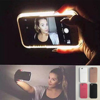 Hot LED Light selfie Phone Case for Iphone 6 6s  6 Plus  6s Plus Case Light Selfie Led Cover 4 colors