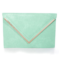 Super Size Mint Oversized Clutch