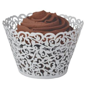 20 pcs Filigree Vintage cupcake paper s Cases - Wedding, Birthday, UK seller Best Selling