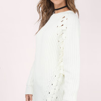 Clear Skies Lace Up Sweater