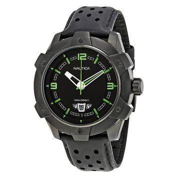 Nautica Black Ion-plated Stainless Steel Mens Watch N35516G