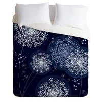 Monika Strigel Midnight Magic Dandelion Duvet Cover