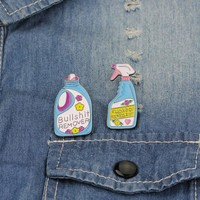 Pins And Brooches Bullshit Remover,XX Repellent Funny Cleaning Pin Badge Enamel Pins Brooch Lapel Pin