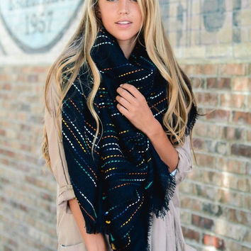 Space Stitch Blanket Scarf