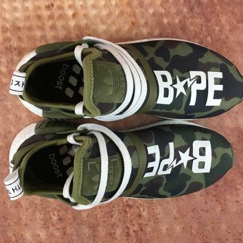 Adidas Boost Nmd Xr1 Pk W Bape Green Women Men Fashion Trending Running Sports Shoes Sneakers
