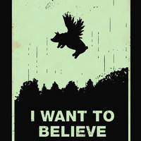 I Want to Believe Art Print | Print Shop