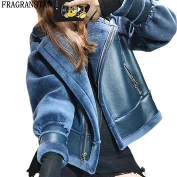 Women Autumn Winter New Fashion Cashmere Coat Locomotive Style Warm Wool Jacket Ladies High Quality Brand Plus Size Outwear Y219