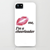 Kiss me, I'm a cheerleader iPhone Case by Rex Lambo | Society6