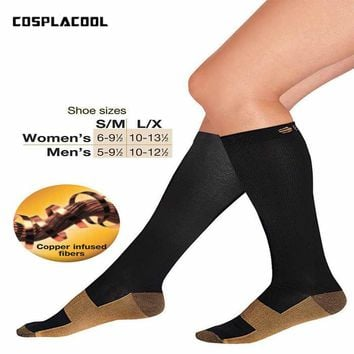 [COSPLACOOL]2017 Stocking Relief Miracle Copper Anti-Fatigue Compression Men Socks Tired Achy Unisex Anti Fatigue Magic Meias