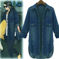 Fashion Loose Large Denim Jacket