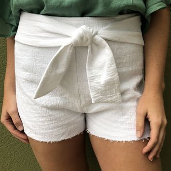 Girls Day Out Short- White
