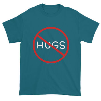 No Hugs Don't Touch Me Introvert Personal Space PSA Short Sleeve T-shirt