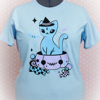 Treat Surprise Kawaii Pumpkin Kitty T Shirt Pastel Goth Fairy Kei