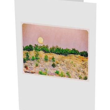 "Ute Park Colorado Watercolor 10 Pack of 5x7"" Side Fold Blank Greeting Cards by TooLoud"