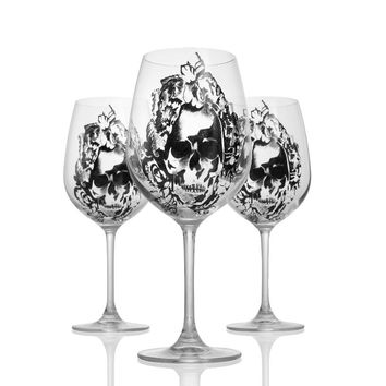 High-Grade Lead-Free Crystal Wine Glass With Diamond Cup Goblet