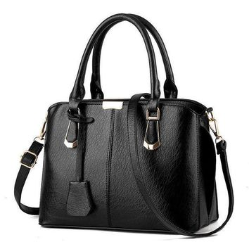 Black Handbag Shoulder Bag Tote Purse Fashion Women Leather Messenger Hobo Bag