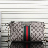 Gucci Women Fashion Leather Satchel Bag Shoulder Bag Crossbody-7