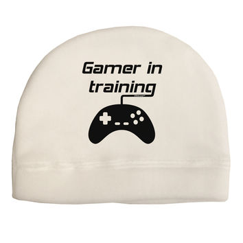 Gamer In Training BnW Adult Fleece Beanie Cap Hat