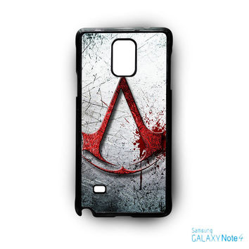assassins creed logos for phone case Samsung Galaxy Note 2/Note 3/Note 4/Note 5/Note Edge