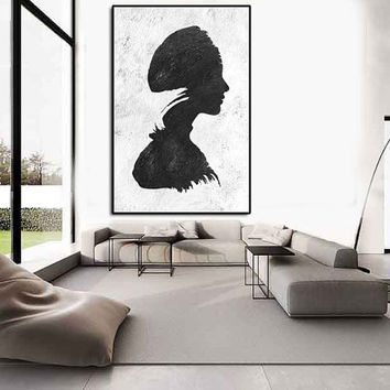 texture acrylic painting, Abtract painting large, extra large wall art canvas, black and white wall art, abstract painting canvas