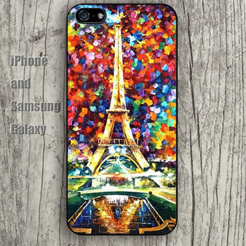 watercolor eiffel tower iphone 6 6 plus iPhone 5 5S 5C case Samsung S3,S4,S5 case Ipod Silicone plastic Phone cover Waterproof