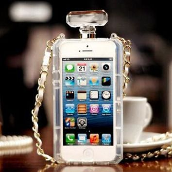 Perfume Bottle Shaped Phone Case with Chain