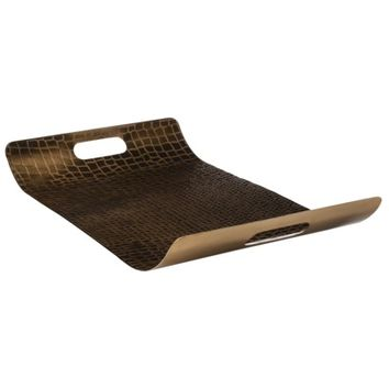 Threshold™ Gold Snake Print Embossed Serving Tray