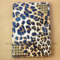 iPad mini Case, iPad mini Cover, Leopard iPad case with bronze studs, Ipad case, Ipad cover