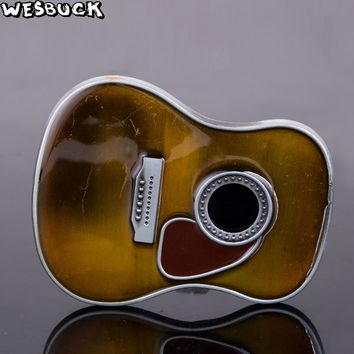 WesBuck Big Guitar Fashion Music Belt Buckle