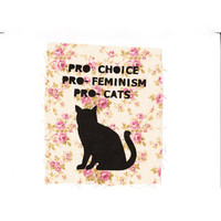 PRO choice feminism cats Patch