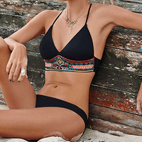 Summer Sexy Swimsuit Beach Hot New Arrival Women's Fashion Black Swimwear Bikini [4970293764]