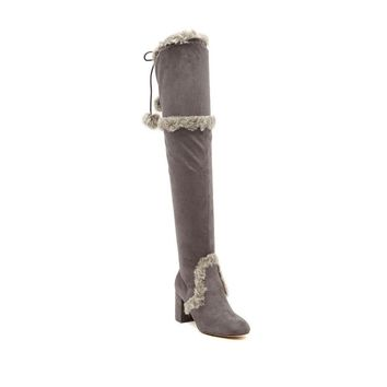 Charles By Charles David Women's Odom Faux Fur Trimmed Over-the-Knee Boots