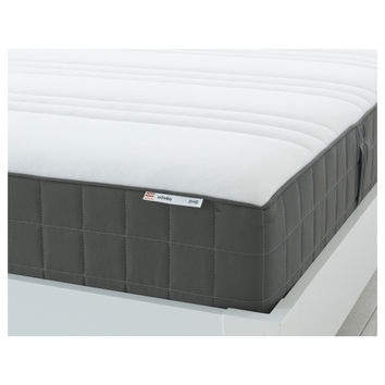 HÖVÅG Pocket sprung mattress Medium firm/dark grey Standard Double - IKEA