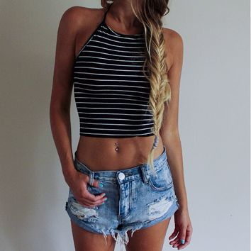 Causal Striped Tank Top