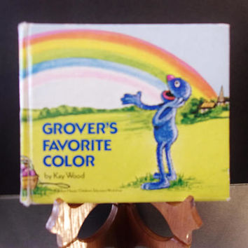 Grovers Favorite Color Hardcover Childrens Book 1977 Blue Sesame Street Muppet Monster