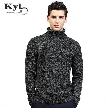 2017 NEW Arrived Men Winter Sweaters High Neck knitted Basic knitwear Homme Pull Pullovers turtle neck mens Hiver sweater M-2XL