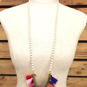 Betsy Pittard Designs- MINI Rach Necklace- White