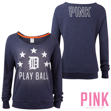 Detroit Tigers Victoria's Secret PINK® Raw Neck Raglan Sweatshirt - MLB.com Shop