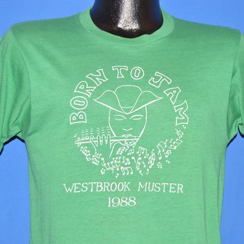 80s Born to Jam Westbrook Muster 1988 t-shirt Small