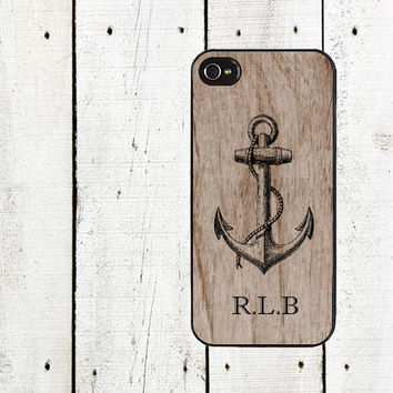 Custom Anchor Phone Case iphone 4 4s & iPhone 5 for iphone 5 iphone 5s iphone 5c  iphone 4 iphone 4s samsung galaxy s3 s4 Father's Day Gift