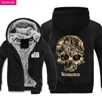 The Walking Dead Hoodie Zombie Daryl Dixon Wings Winter Fleece Mens Thicken Hoodies