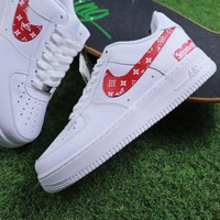 ONETOW Best Online Sale Supreme x LOUIS VUITTON LV x Nike Air Force 1 White Red Sport Shoes Sneaker
