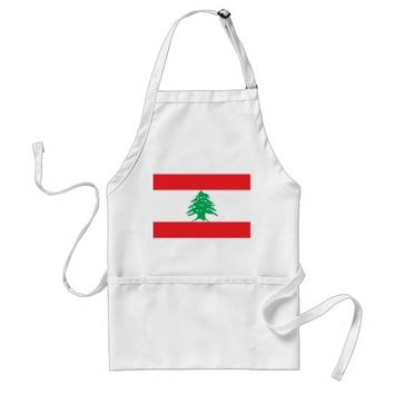 Apron with Flag of Lebanon