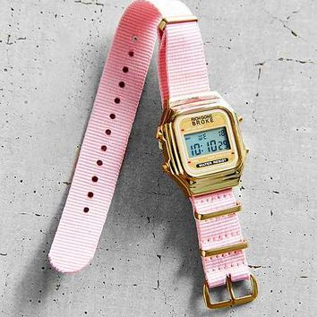 Rich Gone Broke Pink Nato Digital Watch- Pink One