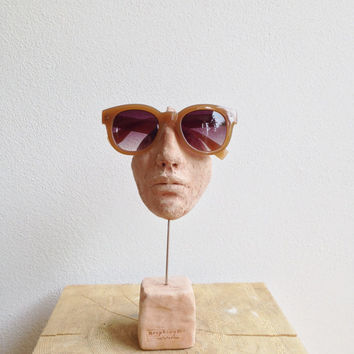 Eyeglass stand sculpture -  Lovely Face  - Home decor
