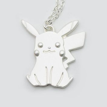 Pikachu Charm Pendant Classic Japanese Cartoon Jewelry  Go Necklace For Anime Fans XL-48Kawaii Pokemon go  AT_89_9