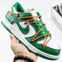 Trendsetter Off-White x Futura x Nike Dunk Low Women Men Fashion Casual Old Skool Shoes