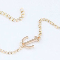Adorn by LuLu - Primitive Anchor Bracelet Gold