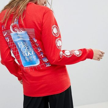 Hanger Long Sleeve T-Shirt With Back Print at asos.com